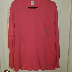 Victoria secret PINK long sleeve shirt size large